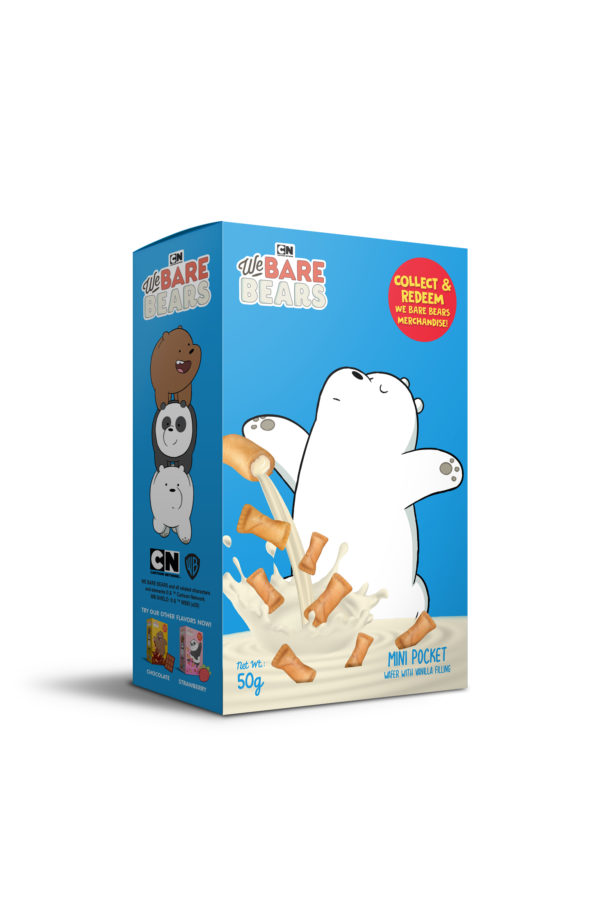 We Bare Bears Mini Pocket Wafer with Vanilla Filling